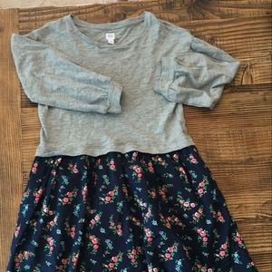 NWOT GAP Kids Floral Long Sleeve Dress